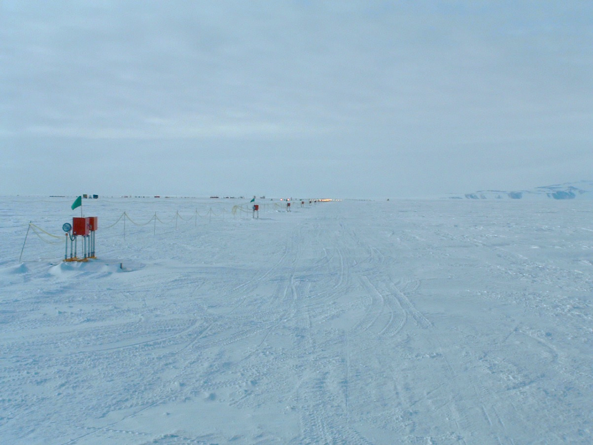 Antarctica Approach Lighting System: reliability needed in all weather conditions.